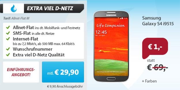 Sparhandy Flat M mit Samsung Galaxy S4 VE