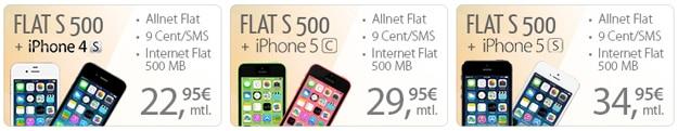 PremiumSIM Flat S 500 mit iPhones