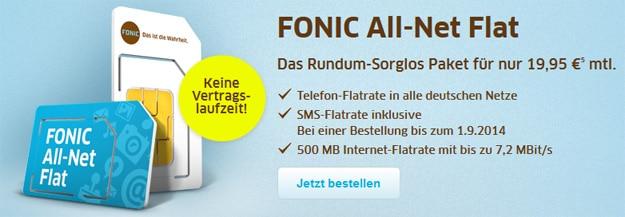 Fonic Allnet Flat für 19,95 € mtl.