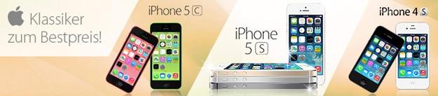 iPhone 4S, 5c, 5s mit PremiumSIM-Tarifen