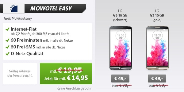MoWoTel Easy mit LG G3