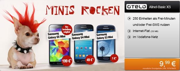 Otelo Basic XS mit Samsung Galaxy Minis