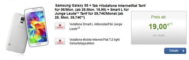 Vodafone Smart L mit Galaxy S5 und Tab