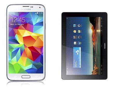 Samsung Galaxy S5 mit Huawei MediaPad Link 10 und Vodafone Red XS