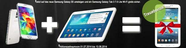 Samsung Galaxy S5 mit Galaxy Tab 3