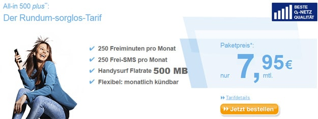 simply All-in 500 plus für 7,95 € mtl.
