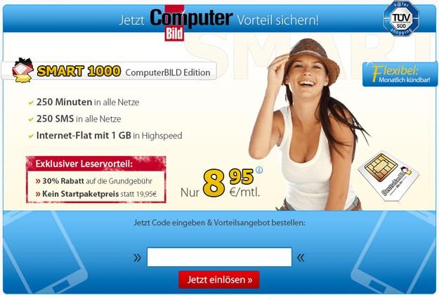 DeutschlandSIM Smart 1000 mit Computerbild