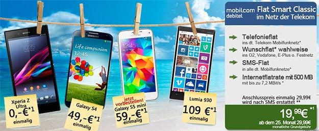 Telekom Smart Classic mit Nokia Lumia 930 u.a.