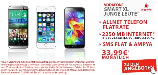 Vodafone Smart XL mit 2,25 GB Internetflat