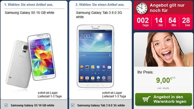 Vodafone Smart XL mit Datentarif + Samsung Galaxy S5 und Tab 3 (8.0)