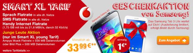 Vodafone Smart XL für Junge Leute mit Tablet