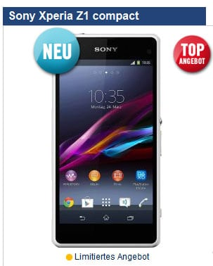 Sony Xperia Z1 Compact mit BASE pur