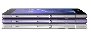 Sony Xperia Z2 alle liegend