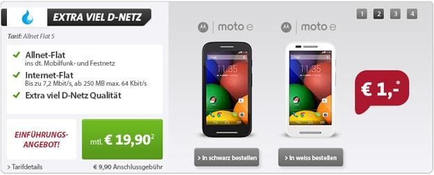 Sparhandy Allnet-Flat S mit Motorola Moto E