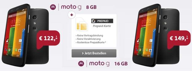 Sparhandy Motorola Moto G günstig mit Otelo Prepaid