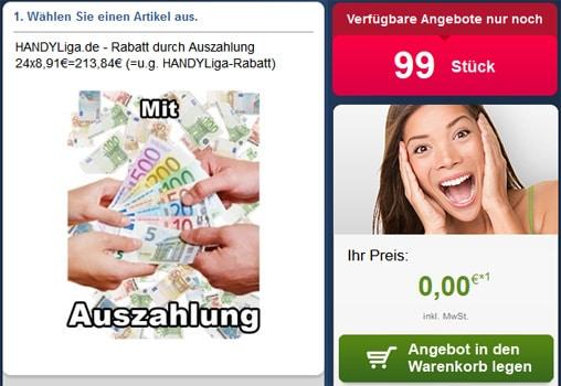 Talk Easy 100 E-Plus mit 213 € Auszahlung