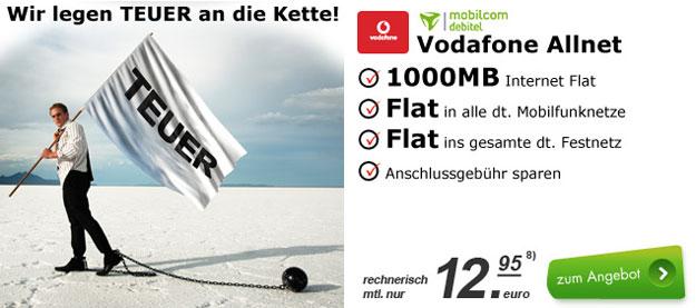 Vodafone Allnet-Flat mit 1 GB und Auszahlung