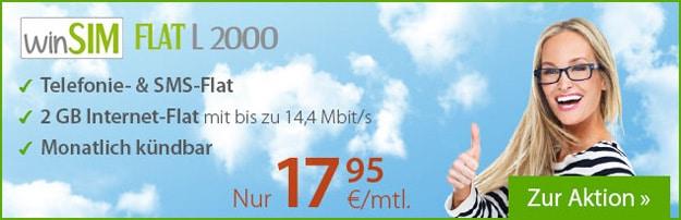 winSIM Flat L 2000 für 17,95 € im Monat