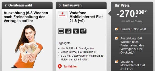 3-GB-LTE-Datentarif Vodafone
