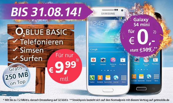 Samsung Galaxy S4 Mini + o2 Blue Basic