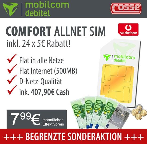 Vodafone Comfort Allnet - 7,99 EUR