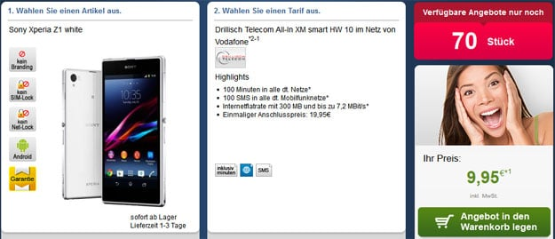 Drillisch All-in XM mit Sony Xperia Z1 u.a.