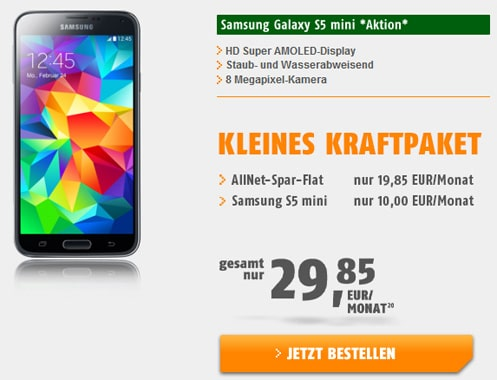 klarmobil AllNet-Spar-Flat mit Samsung Galaxy S5 Mini