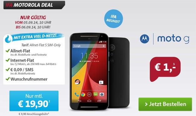 Motorola Moto G 2. Gen mit Sparhandy Allnet-Flat S