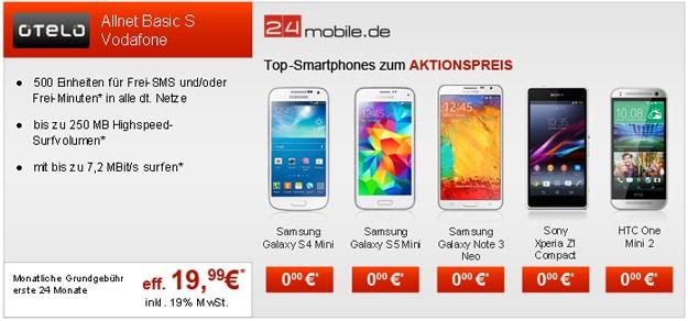 Otelo Allnet Basic S mit Samsung Galaxy S5 Mini u.a.