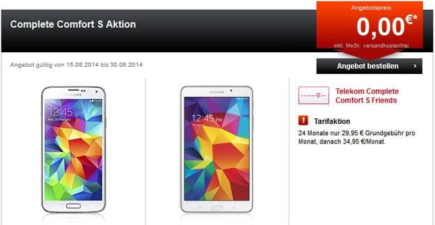 Telekom Complete Comfort S mit Samsung Galaxy S5 + Tablet