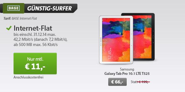 Samsung Galaxy TabPro (10.1) mit BASE Datentarif