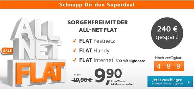 simyo Allnet-Flat für 9,90 € mtl.