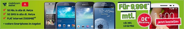 Vodafone Smart Surf mit Samsung Galaxy S3 Neo, S4 Mini