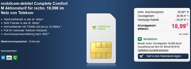 Telekom Comfort M (md) mit 647 € Auszahlung