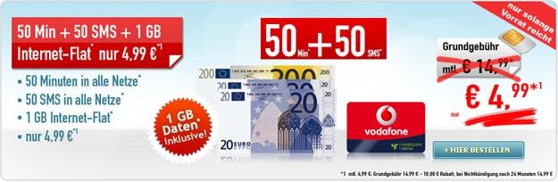 Vodafone Smart Surf für 4,99 € mtl.