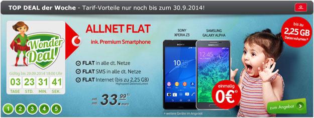 Vodafone Smart XL oder L Junge Leute mit Top-Smartphone