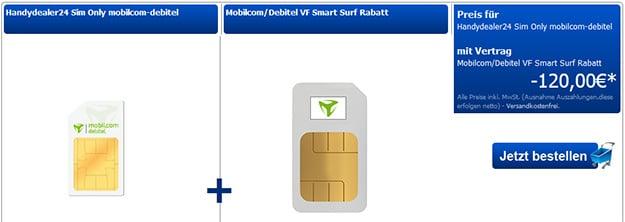 Vodafone Smart Surf für 4,99 € im Monat