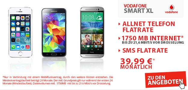 Vodafone Smart XL mit Handy & Tablet