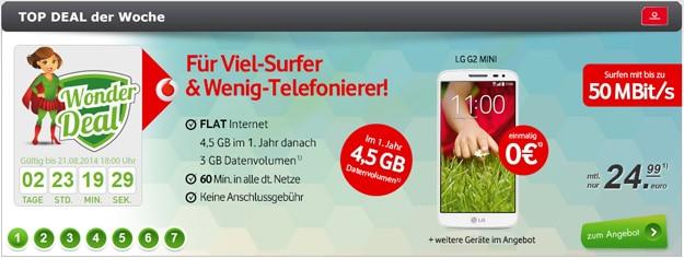 Vodafone MobileInternet mit 60 Minuten + Handy