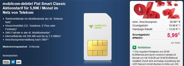 Flat Smart Telekom 5,99 EUR
