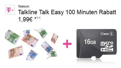 Talk Easy 100 Telekom - microSD