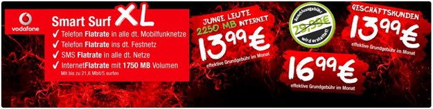 Vodafone Smart XL mit Auszahlung