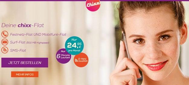 chixx-Flat im Telekom-Netz