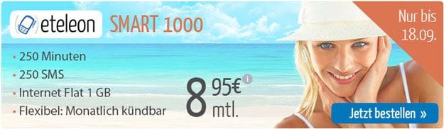 Eteleon Smart 1000 für 8,95 € mtl.