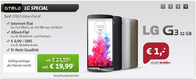 LG G3 32GB mit Otelo Allnet-Flat M