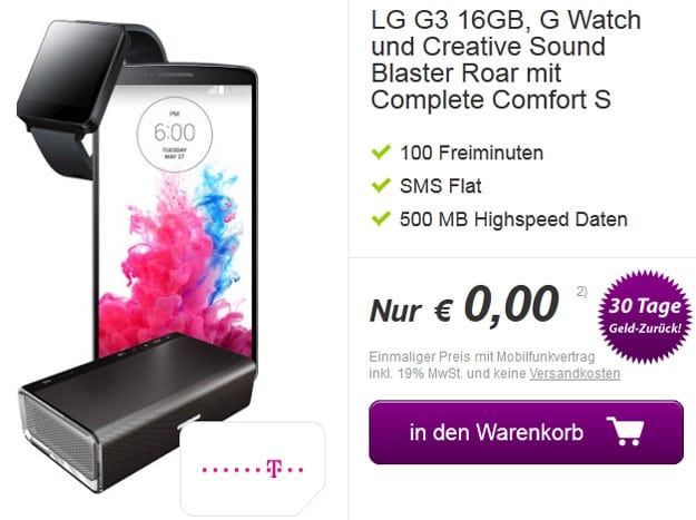 LG G3, LG G Watch und Creative Soundblaster Roar
