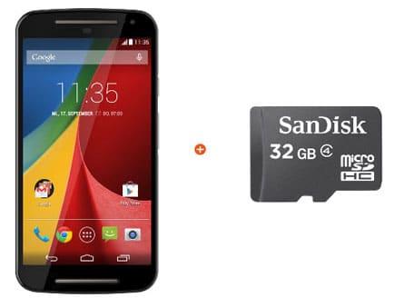 Motorola Moto G (2. Generation) mit 32GB microSD-Karte