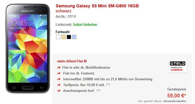 Otelo Allnet-Flat M mit Samsung Galaxy S5 Mini