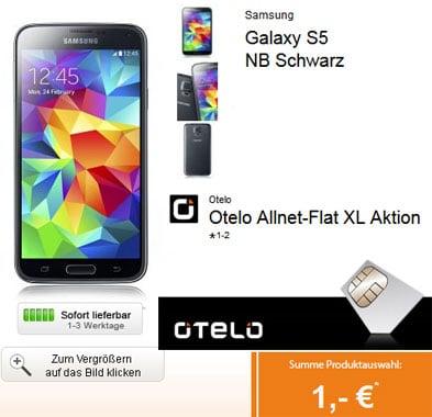 Otelo Allnet-Flat XL mit Samsung Galaxy S5 u.a.