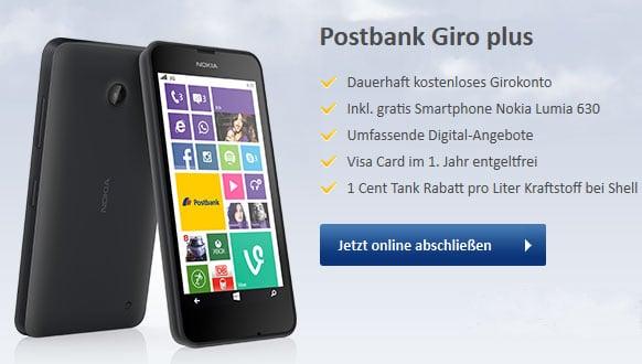 Postbank Giro Plus mit Nokia Lumia 630